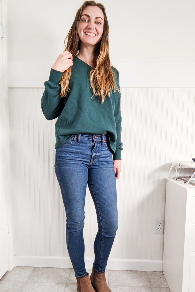 crop sweatshirt with hem