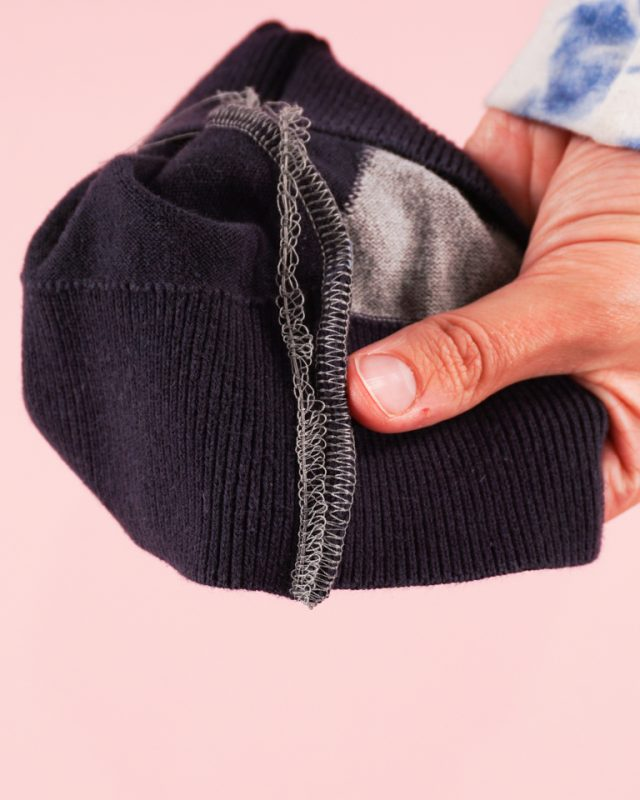 tuck thread up by seam allowance