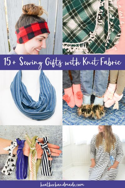 Sewing Gifts with Knit Fabric
