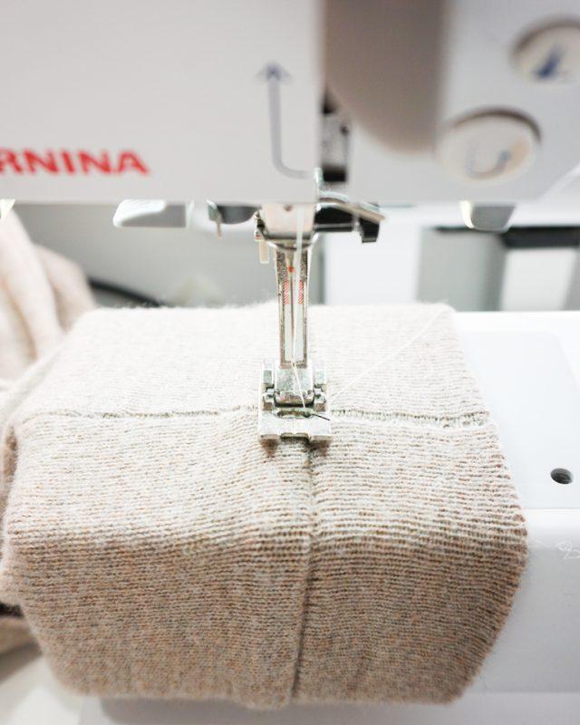 topstitch seam allowance up towards the sleeve