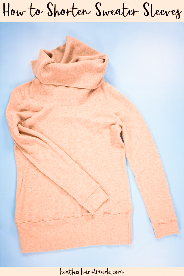 How to shorten sweater sleeves