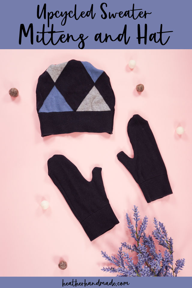 make sweater mittens upcycle