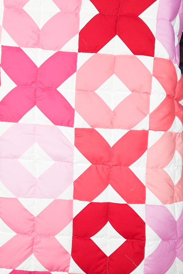 quilt three rows together