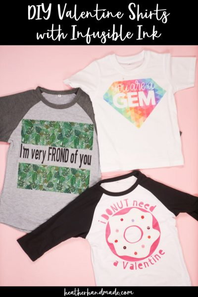 diy valentine shirts with infusible ink