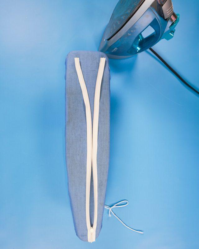 iron invisible zipper teeth flat