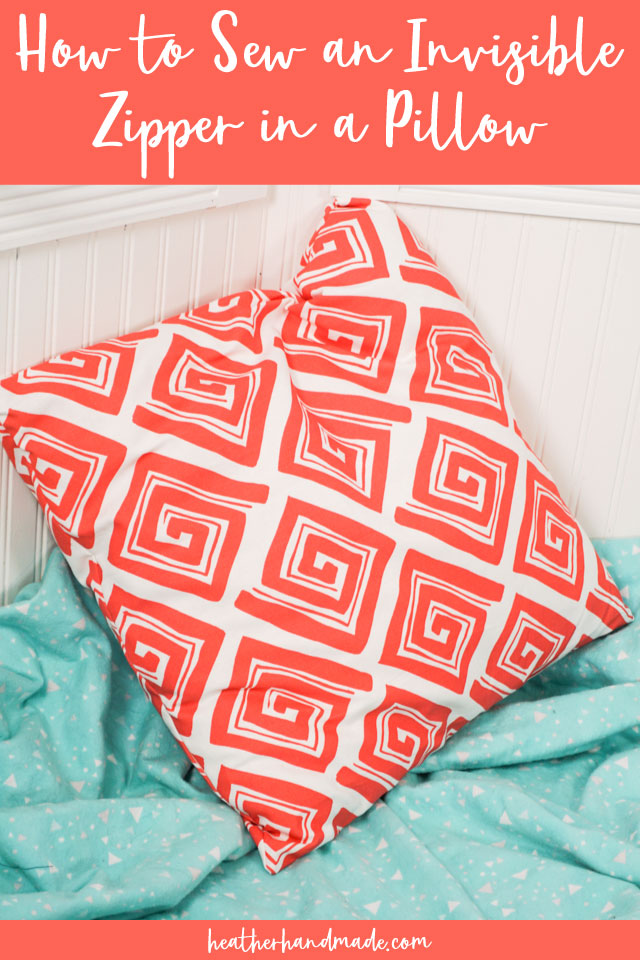 How to Sew an Invisible Zipper in a Pillow