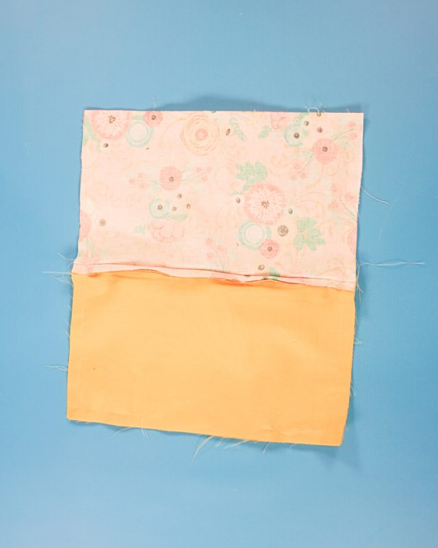 sew around the rectangle and leave a hole