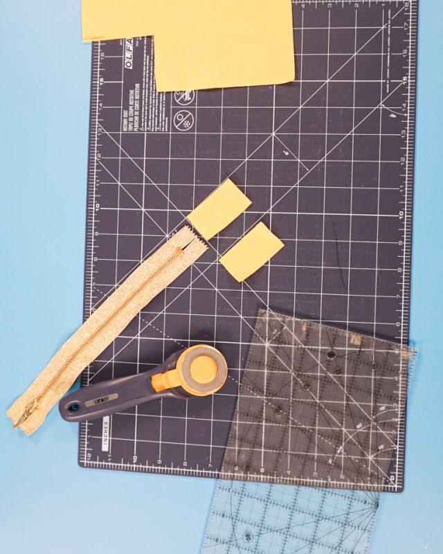 cut out zipper tabs