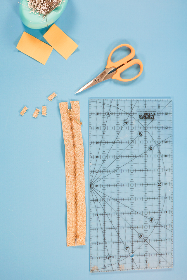 trim ends of zipper