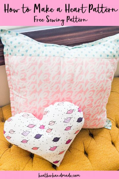how to make a heart pillow