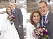 Meet the bride and groom--What a lovely couple!