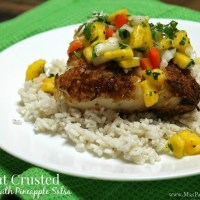 Coconut Crusted Cod and Pineapple Salsa