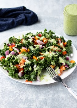 Easy Mexican Kale Salad