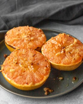 Ginger Honey Broiled Grapefruit