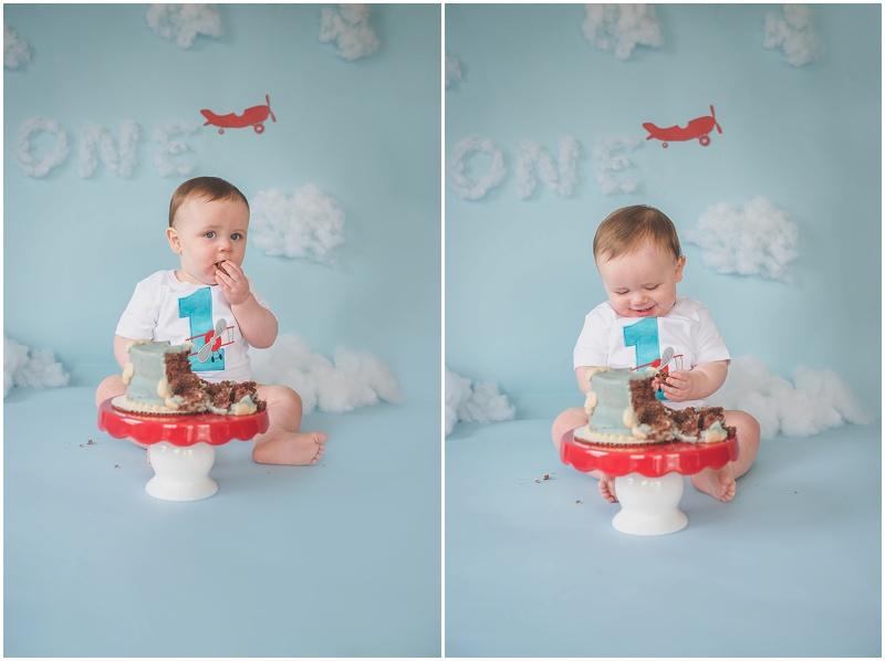 time flies airplane pilot first birthday photos