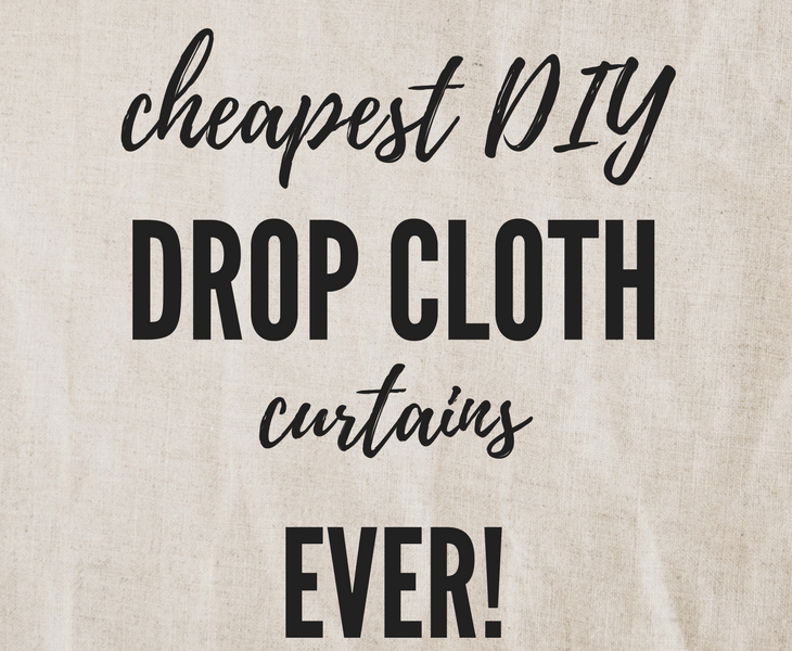 Cheapest DIY Drop Cloth Curtains, no-sew, sew, DIY curtains #cheapest #DIY #dropcloth #curtains #crafts
