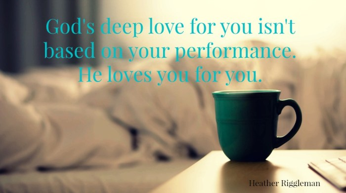 God loves you more than your performance