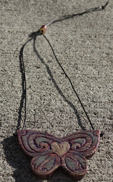 steampunk butterfly necklace 007