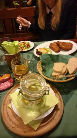 Picklet cheese which was served in a cute mason jar. Pic: Caitlin Courtney.