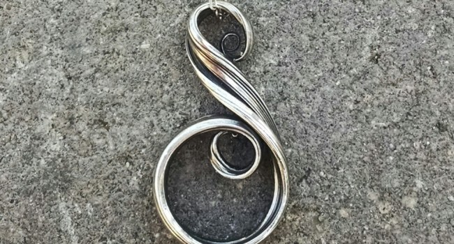 Flowing Swirl Pendant in Sterling Silver