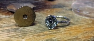 Lotus Engagement Ring With Prong Setting