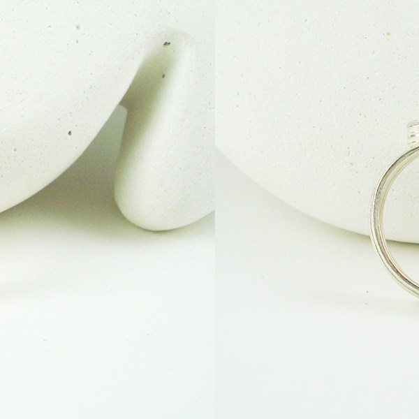 silver wave ring top and bottom view