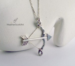 Bow and Arrow Necklace Finished