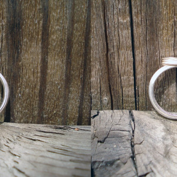 silver ocean ring top and bottom view