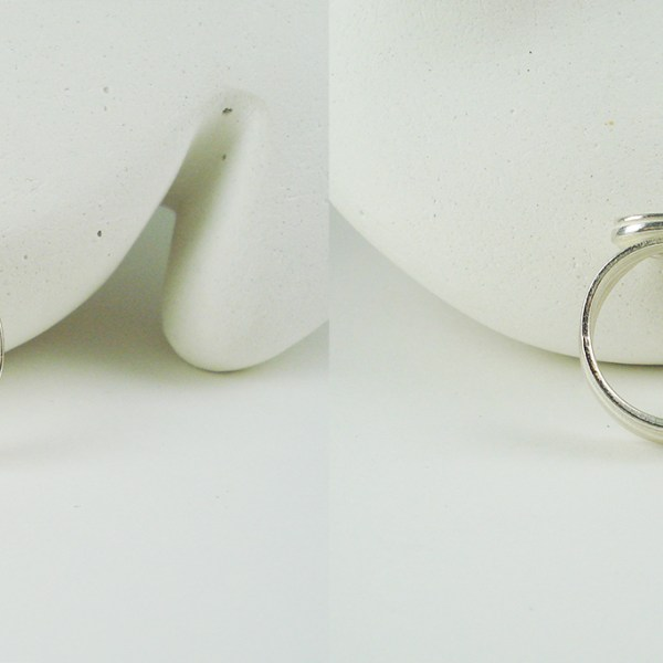 wahine wave ring top and bottom view