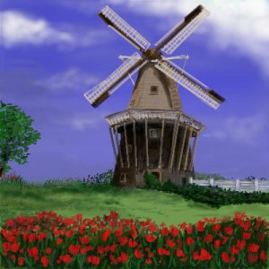 Dutch_Windmill_by_davincipoppalag