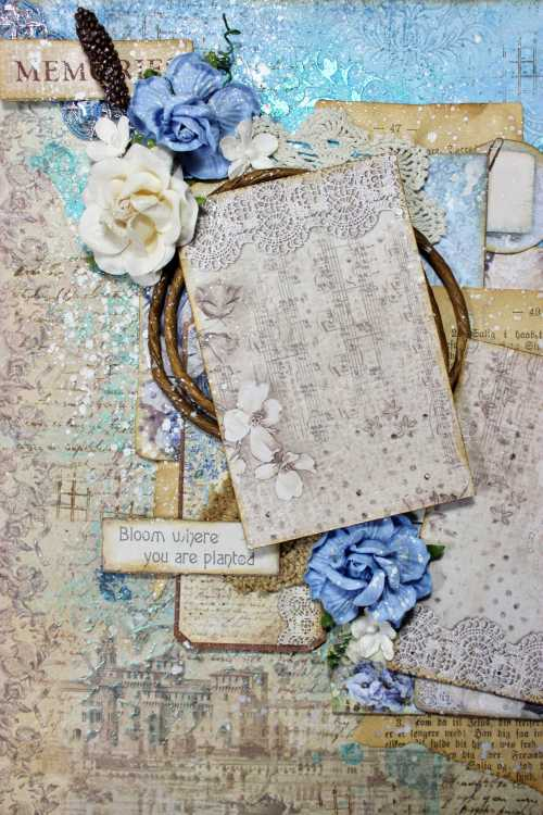 Ciao Bella Paper Boy Mixed Media Layout 3