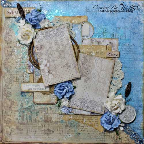 Ciao Bella Paper Boy Mixed Media Layout