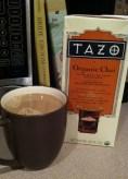 Warm chai latte at home