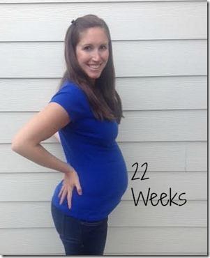 22weeks bump