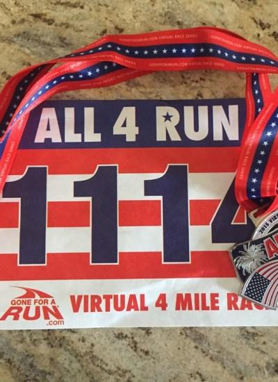 All 4 Run: Virtual Run Recap + 4th of July