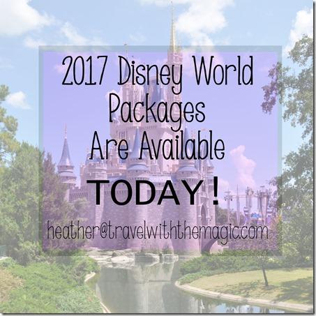 2017 disney packages