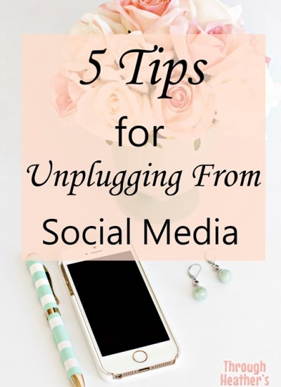 5 Tips for Unplugging from Social Media