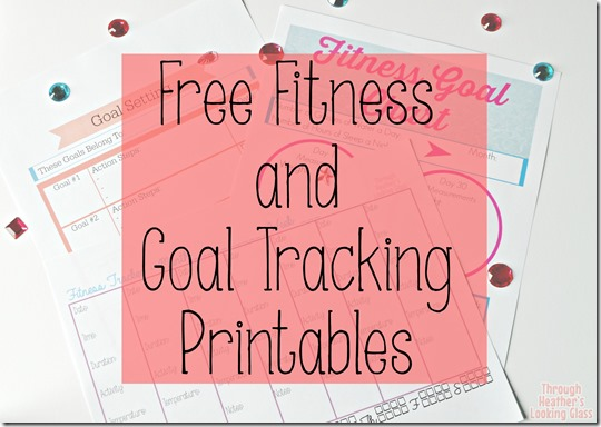 Free fitness and goal tracking printables
