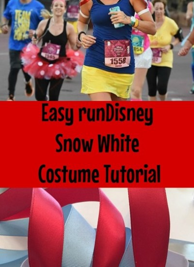 runDisney Snow White Costume Tutorial