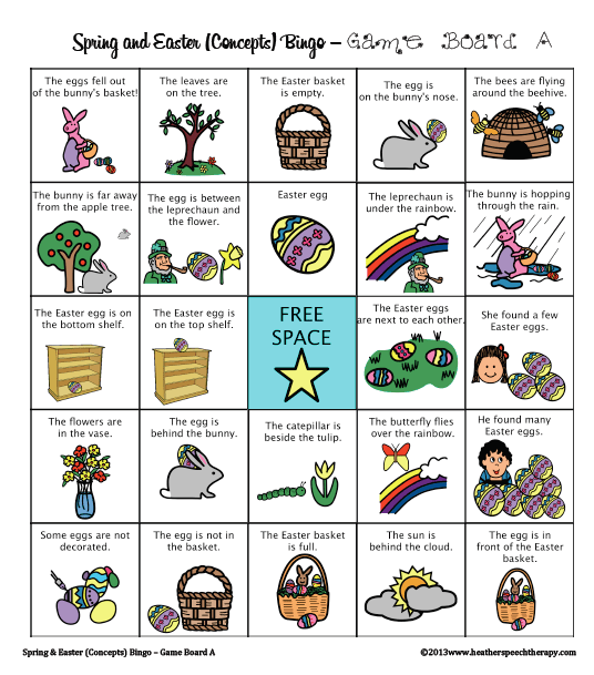 Free Spring And Easter Speech Therapy Materials