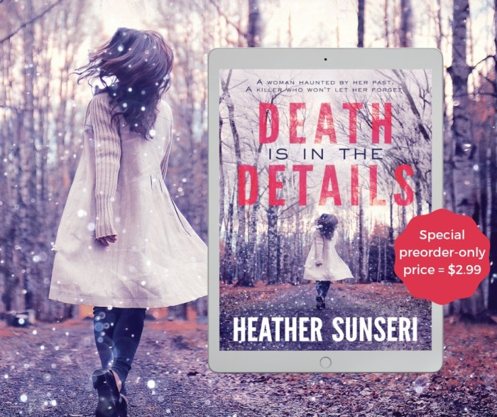 If you like small-town mysteries, psychological thrillers, and spine-tingling twists, then you'll love Heather Sunseri's latest page-turning tale.