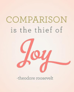 comparison is the their of joy