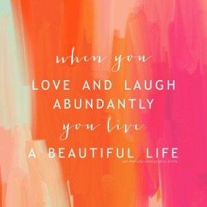 living abundantly