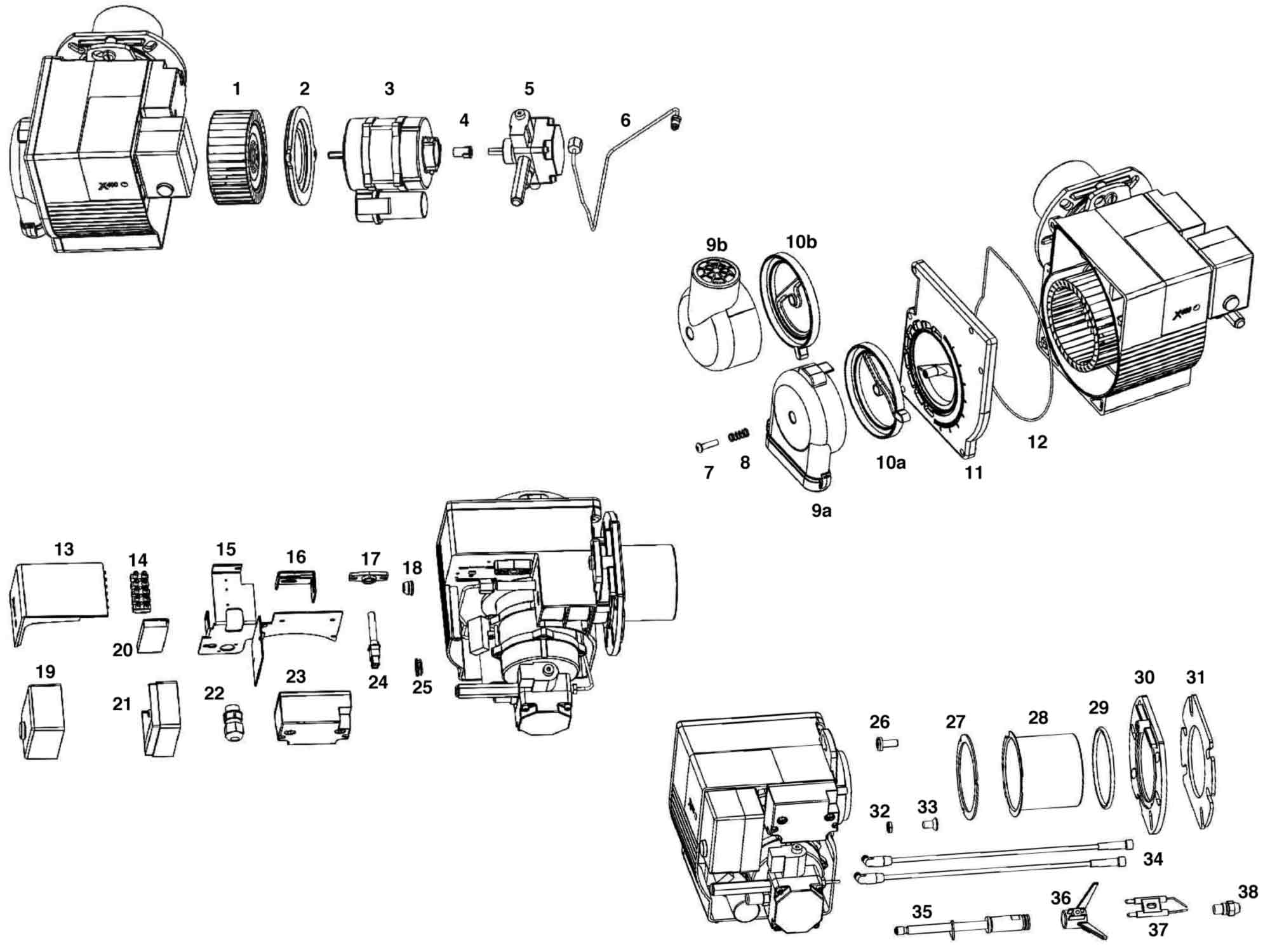 Eogb X400 Oil Burner Parts