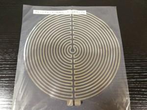 円形アルミ箔ヒーター