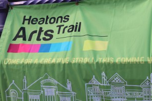 Heatons Arts Trail Banner at Arc