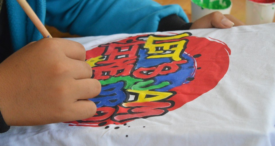 Drawing shirt homemade t-shirt heatpress gifts