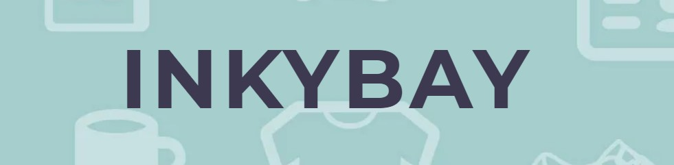Inkybay logo t-shirt design software image via screencapture from the website