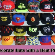 decorate hats with a heat press