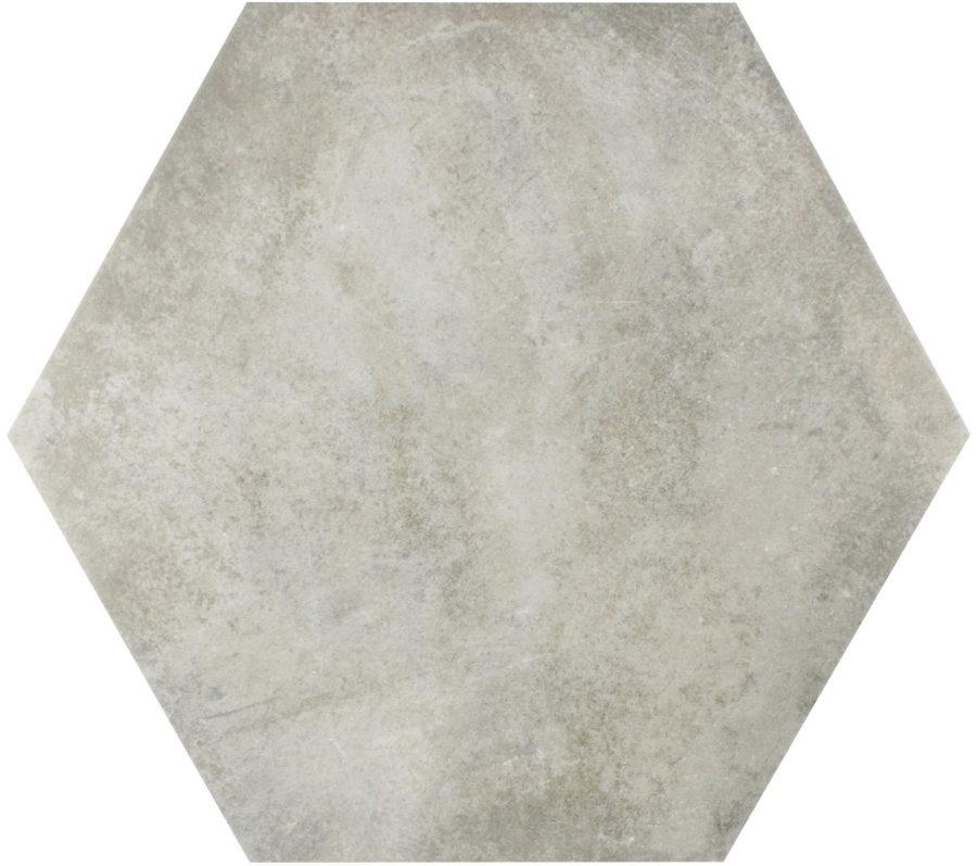 box memphis hexagon gris porcelain